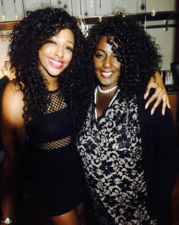 Alexandra Burke with her mother Melissa Bell