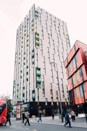 The 18-floor block in Barking in which Lucy Stevenson lives