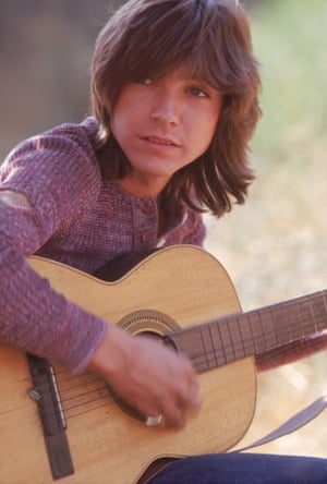 David Cassidy with an acoustic guitar in September 1971