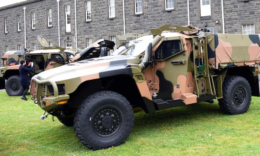 A Hawkei vehicle built by Thales
