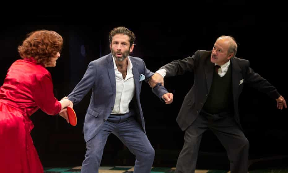 Loose-limbed … from left, Tracy-Ann Oberman, Elliot Levey and Jonathan Tafler in The Mighty Walzer.