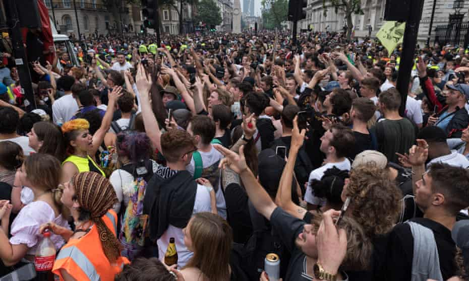 Thousands of people marching through London on 27 June calling for all restrictions to be lifted.