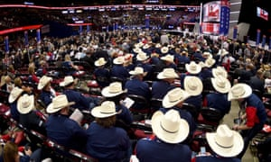 Texas delegates sit at the 2016 Republican national convention.