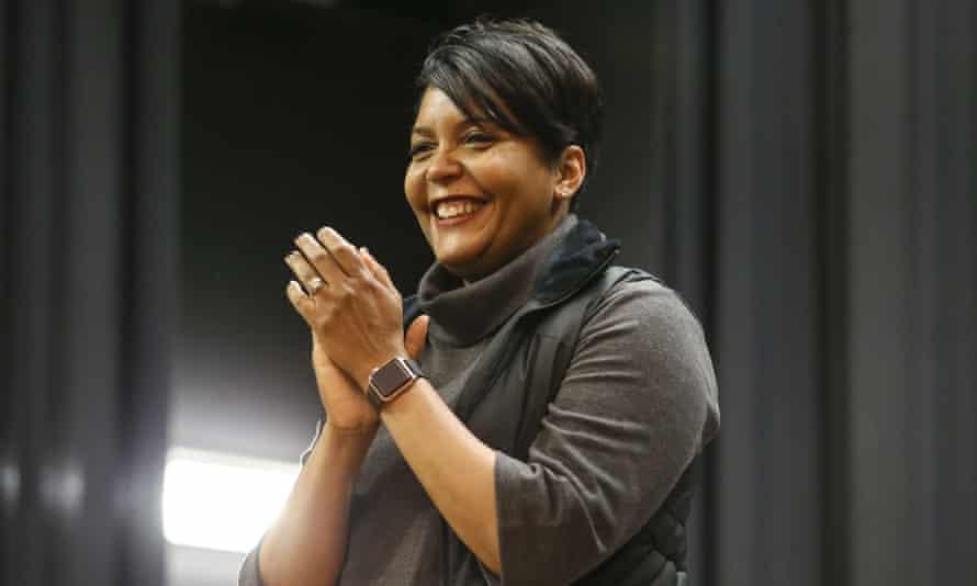 Atlanta's mayor, Keisha Lance Bottoms, in Iowa on 3 February.