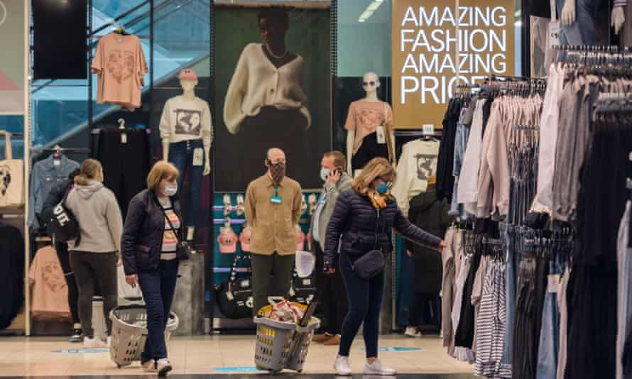 Shoppers inside Primark store on Oxford Street