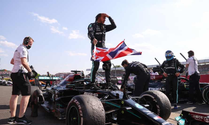 Lewis Hamilton won the British Grand Prix after a first-lap collision that shunted his title rival Max Verstappen out of the race.