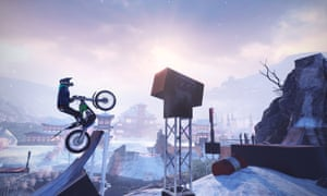 Trials Rising: motocross on the hot springs track