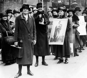 Miss Susan Lawrence, Labour Party Vice- President, circa 1920 in London.