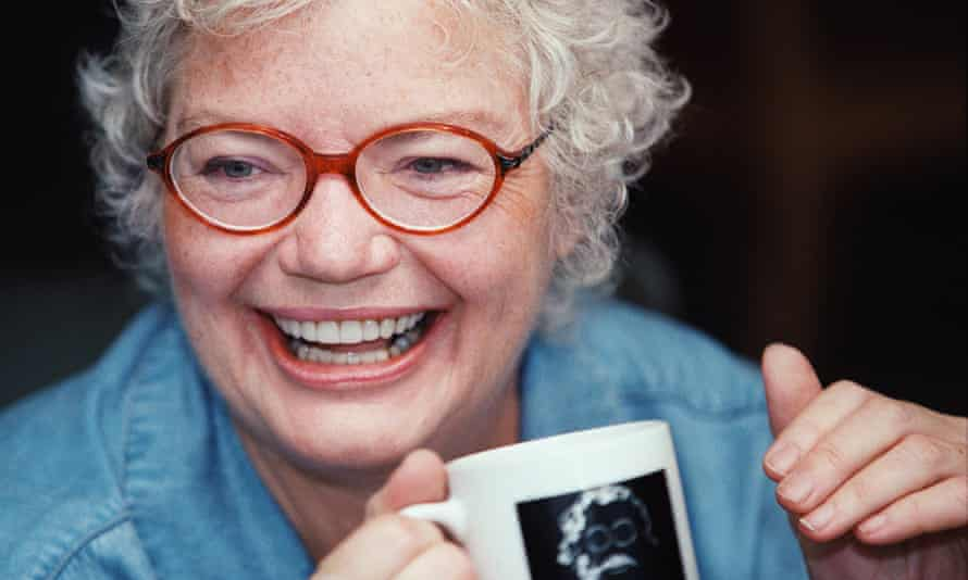 Molly Ivins at home.