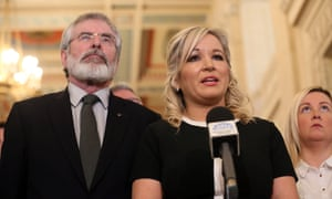 Michelle O'Neill with Gerry Adams.