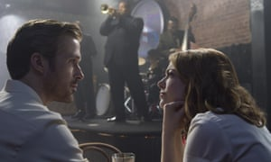 Ryan Gosling, left, and Emma Stone in La La Land.