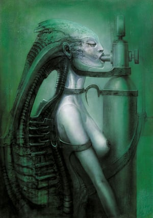 In addition to his work on Alien, Giger also worked on films such as Poltergeist II: The Other Side, Species and Killer Condom.