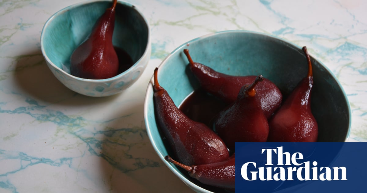 Rachel Roddy's recipe for pears poached in red wine