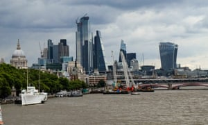 City of London and Waterloo bridge