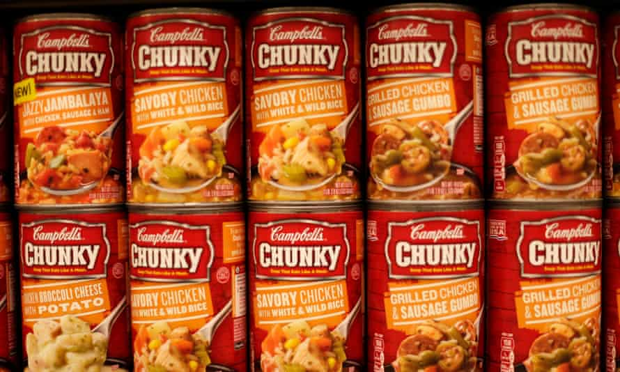 Cans of Campbell's brand Chunky soups