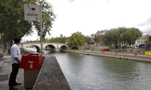 The designer of the 'Uritrottoir' said it offered an 'eco solution to public peeing'.