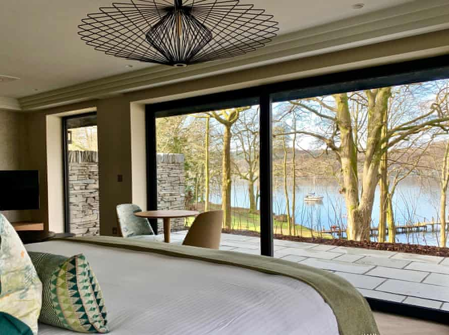 Room with a view: one of Storrs Hall's lakeside suites.