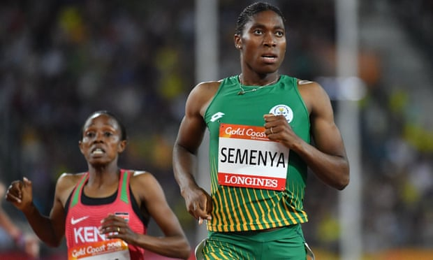 South Africa's Caster Semenya (right) competing at the 2018 Commonwealth Games in Australia.