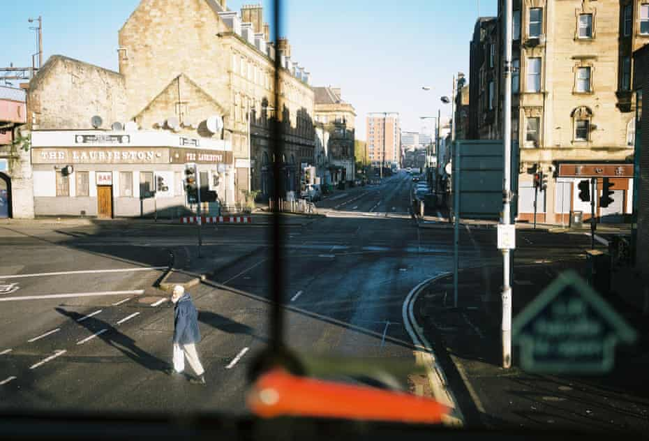 Eglinton Street, Laurieston from the number 4, bus.