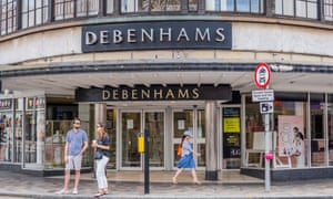 The Debenhams store in Clapham Junction, south-west London.