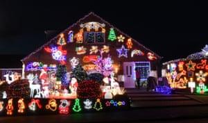 Christmas lights in Soham