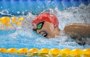 Great Britain's Jessica Jane Applegate finishes second in the women's 200m freestyle S14 final