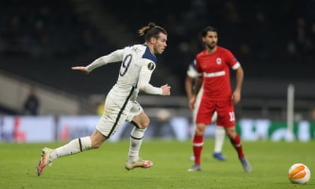 Gareth Bale played a major role in Tottenham's first goal against Antwerp