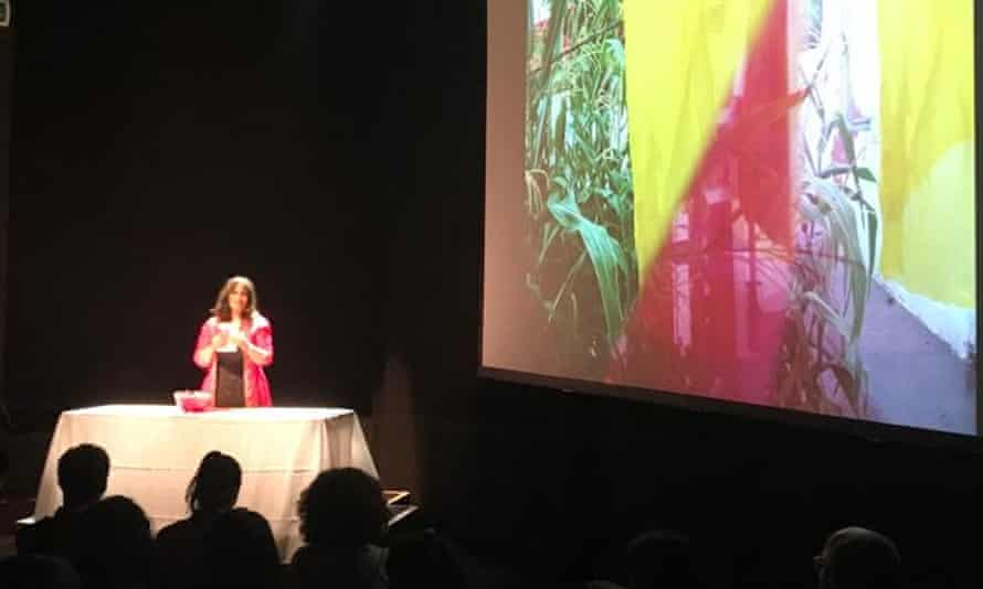 Power dynamic ... Bhanu Kapil performs How to Wash a Heart, at the ICA, London, 19 June 2019.