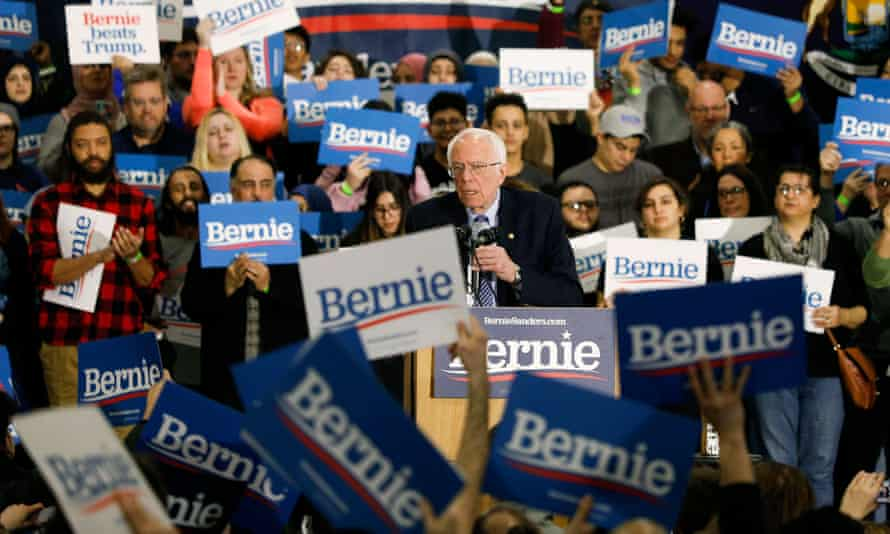Bernie Sanders speaks at a campaign rally at Salina Intermediate School on 7 March 2020 in Dearborn, Michigan.
