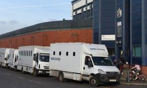 HMP Birmingham security vans