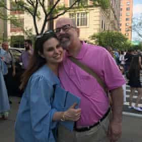 Neurologist Gary Sclar with his daughter Jennifer