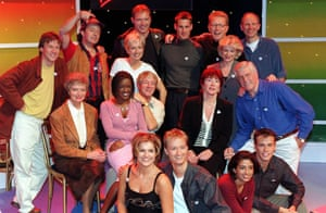 Blue Peter presenters from the glory days.