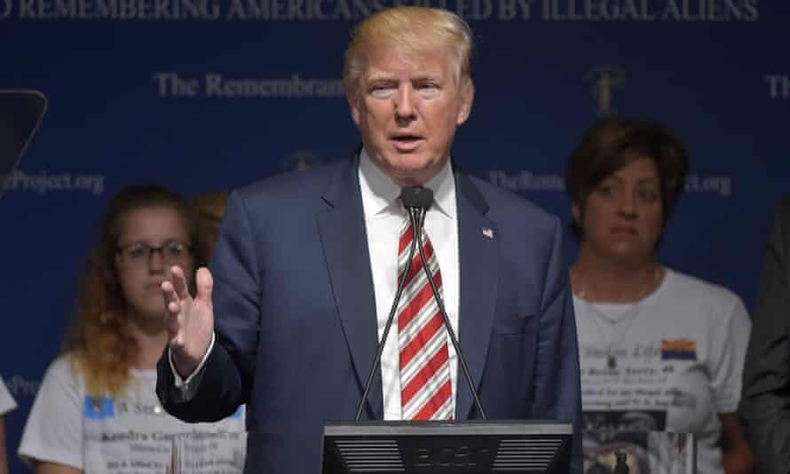 Donald Trump speaks at the Remembrance Project