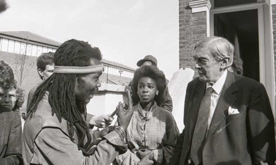 Lord Scarman meets residents in Brixton in the 1980s