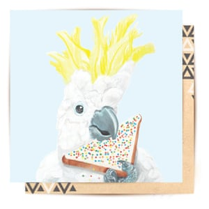 La La Land cockatoo card