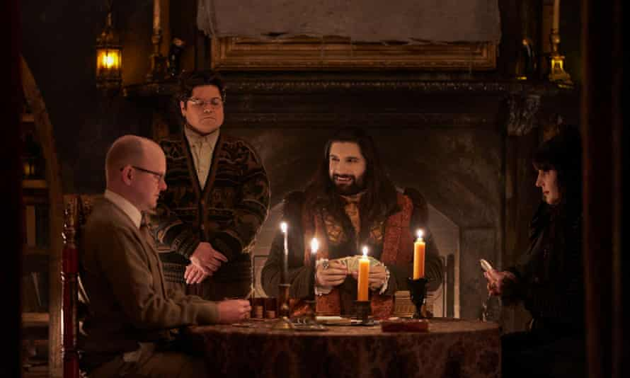 With fiends like these ... What We Do in the Shadows, season 2.