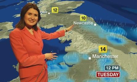 The BBC Weather presenter Helen Willetts.