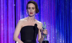 Sarah Paulson accepts the award for performance by a female actor in a television movie or limited series.