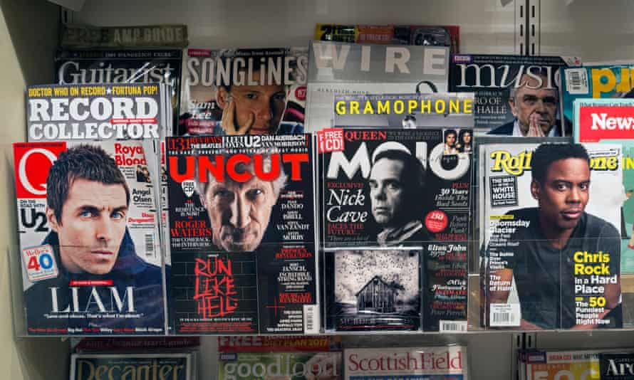 'Every month I'm excited when we put the magazine to bed' ... a newsagent's selection of the UK's surprisingly robust music press.
