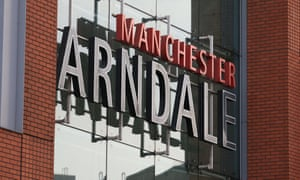 Manchester Arndale shopping centre sign