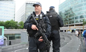 Armed police near City Hall in London