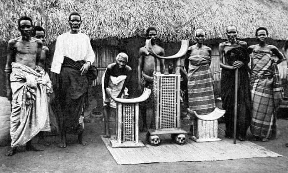 The real thing … the throne of King Béhanzin of Dahomey.
