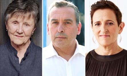 Australian writers Helen Garner, Christos Tsiolkas and Charlotte Wood