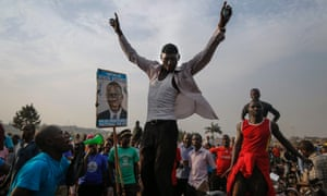 Opposition supporters in Uganda