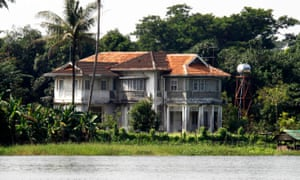 The site of Aung San Suu Kyi's house arrest, seen here in 2010.