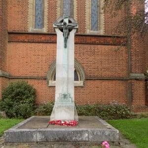 The war memorial at St Luke's church in Bromley