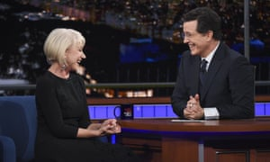 Helen Mirren on The Late Show with Stephen Colbert