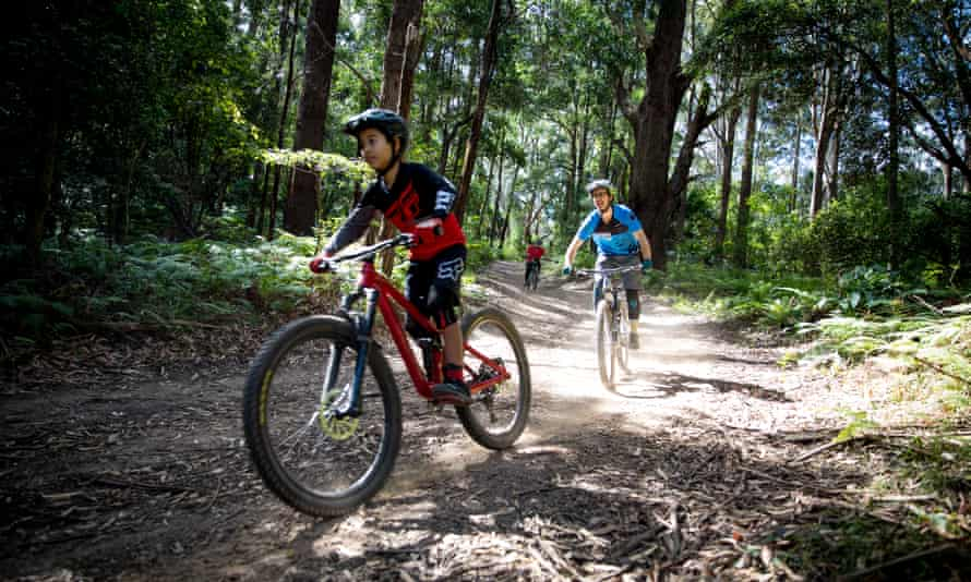 Mountain bike trails in Bulli, a northern suburb of Wollongong.