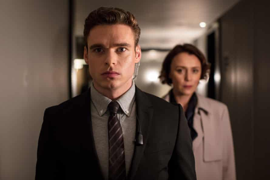 Actors Richard Madden and Keeley Hawes in the BBC TV series Bodyguard, August 2018