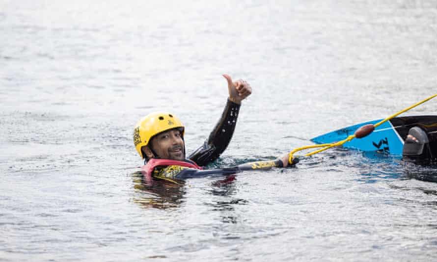 Rhik Samadder tries wakeboarding